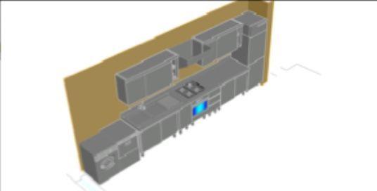 disegno 3D cucina