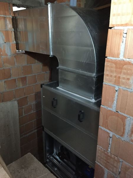 Installazione canna fumaria