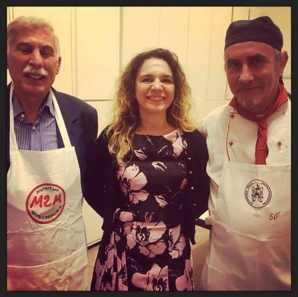 il presidente dell'Accademia della cuciana Piacentina, La nutrizionista e lo Chef