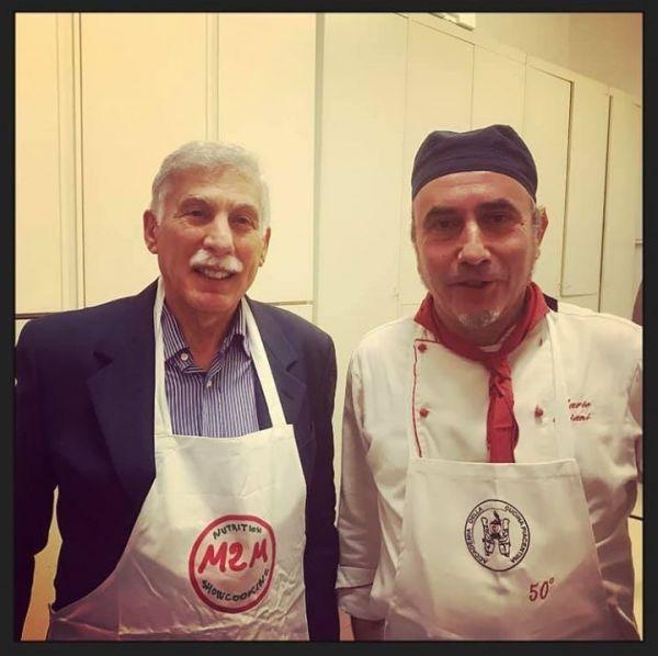 il presidente, lo chef Mario Oriani