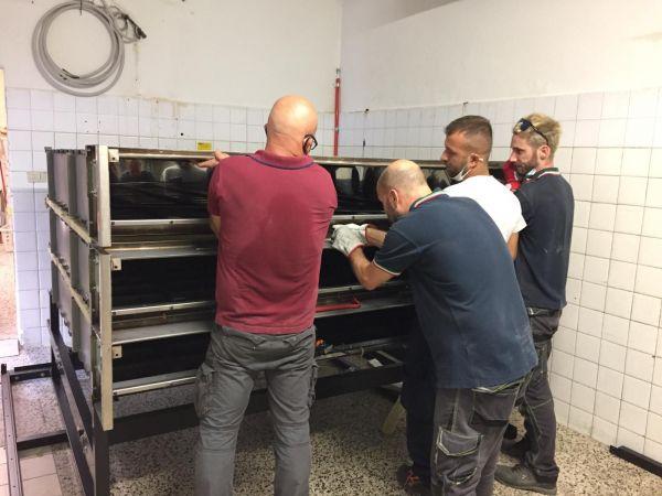 montaggio del forno