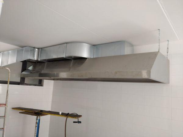cappa a parete in acciaio Inox